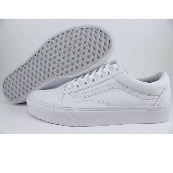 quality 2019 factory price available VANS Old Skool White Leather Canvas, Men's NWT